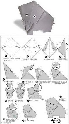 简单易学的日系卡通动物折纸