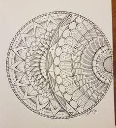 2017 Sketchbook – Page 3 – CraftyArtistKC Mandala Doodle, Mandala Art Lesson, Mandala Artwork, Mandala Drawing, Mandala Sketch, Zentangle Patterns, Mandala Pattern, Zentangles, Sacred Geometry Art