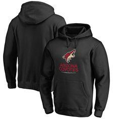 Arizona Coyotes Team Lockup Pullover Hoodie - Black
