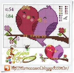 Love birds x-stitch