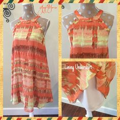 """Betsey Johnson Dress  Super cute dress with a zipper in the back. Length from top of shoulder seam to bottom of dress is 36-1/2"""". Side seam length is 26-1/2"""" from underarm to bottom of dress. 17"""" across the chest from side to side. 100% Polyester Betsey Johnson Dresses"""