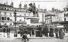 La place des Victoires et statue de Louis XIV, 1900