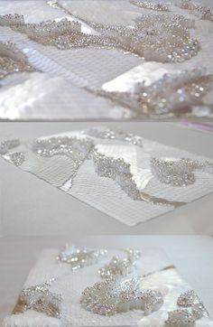 So pretty in white. Learn how to embroider beads like this from experts who work…