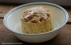 Peanut & Oat Fiber Muffin-in-a-Mug (S)- A yummy low carb, low sugar, gluten free, dairy free recipe.