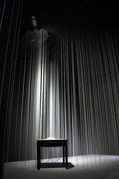 Installation of 4200 Strings of Rice Grains by Sayaka Ishizuka, Japan