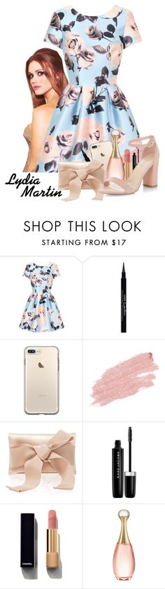 """Lydia Martin ~ Teen Wolf"" by lalalasprinkles ❤ liked on Polyvore featuring Chi Chi, Givenchy, Jane Iredale, Oscar de la Renta, Marc Jacobs, Chanel, Christian Dior and New Look"