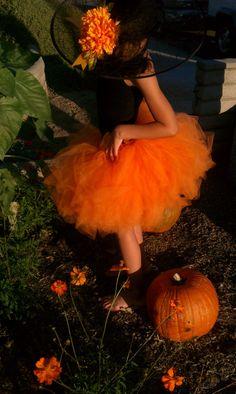 Orange tutu (fall tutu).. $25.00, via Etsy.