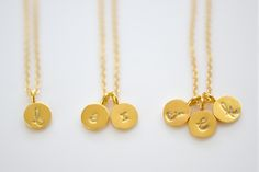 Cute, Dainty, Trendy & Simple, Great for everyday or your special day. These 6mm tiny tiny gold vermeil ( 24kt gold over sterling silver) disc char...