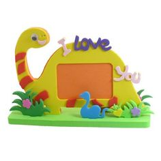 Amico Dinosaur Shape Foam Handicrafts Photo Frame Orange Yellow w Base by Amico, http://www.amazon.com/dp/B00AO3ZDZU/ref=cm_sw_r_pi_dp_44ZSrb1QJNG0F