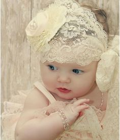 Beautiful lace, gorgeous baby girl