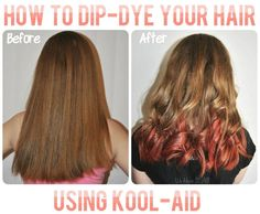 "Kool-Aid Dip Dye.  Also known as ""How to stain your hair so bad that people in science class snicker behind your back and you end up cutting it off, even though you don't want to.""  True story."