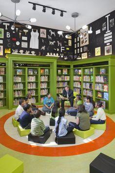 Maira Kalman's library decor