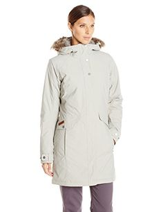Columbia Womens Grandeur Peak Long Jacket Flint Grey Large ** You can find out more details at the link of the image.