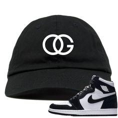 4c76751e28a7b2 Jordan 1 Retro High OG WMNS Panda Sneaker Match OG Logo Black Dad Hat