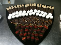 Everything's better dipped in chocolate! Lady fingers, marshmallows, pretzels, and strawberries :)