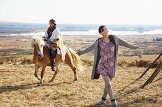 "Robe Huli, gilet long Lula, La Fiancée du Mekong, collection AH15 ""In Mongolie for Love""."