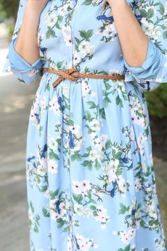 Modest Fashion | Modest Bridesmaid Dresses | Baby Blue Blissful Bluebird Dress by Dainty Jewell's