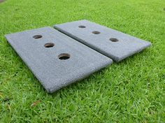 3 hole washer boards with plush marine grade carpet for better playability