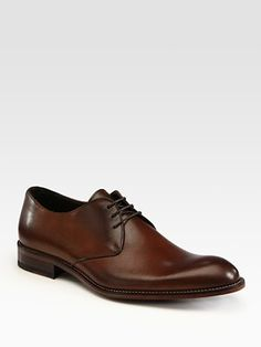 To Boot New York - tan Winston leather oxfords, at saks.com