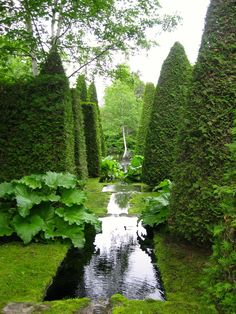 ⍋Green Gardens⍋ zen, formal, topiary & landscape parks & gardens - Les Quatre Vents (The Four Winds): a private garden in Quebec open just a few days a year Formal Gardens, Outdoor Gardens, Modern Gardens, Japanese Gardens, Small Gardens, Quebec, Landscape Design, Garden Design, Parks