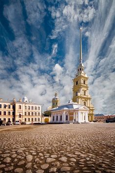 Cathedral at Peter and Paul Fortress, St. Petersburg, Russia.