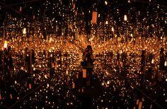 Yayoi Kusama. Light installations.