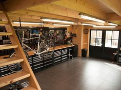 Although your garage is going to be your main workspace and hold all your equipm. - Although your garage is going to be your main workspace and hold all your equipment, there is not a - Garage House, Garage Loft, Garage Shed, Barn Garage, Garage Tools, Dream Garage, Garage Storage, Garage Bench, Garage Workbench