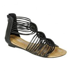 ADA-5 Women Flat Sandals - Black
