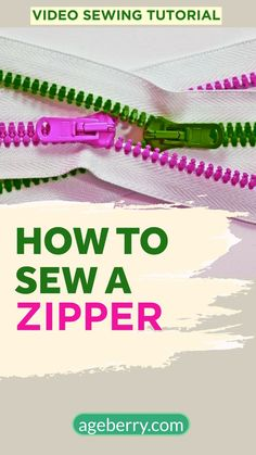Let me show you the fastest and easiest way to sew an invisible zipper using Wonder tape for sewing. This is step by step video tutorial. Sewing Hems, Sewing Pockets, Serger Sewing, Sewing Elastic, Sewing Stitches, Sewing Coat, Dress Sewing, Easy Sewing Patterns, Easy Sewing Projects