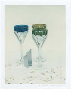 ANDY WARHOL (1928-1987) Committee 2000 Champagne Glasses two unique polaroid prints (detail right) each: 4¼ x 3 3/8 in. (10.8 x 8.6 cm.) Executed in 1982