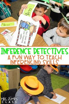 Making Inferences is fun while you lead your inference detectives through the investigation. Students use clues to rule out suspects and solve the case. #inferencedetectives #makinginferences #teachinginference
