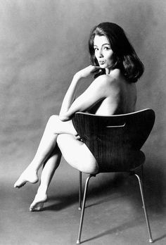 The famous shot of a naked Christine Keeler astride a copy of a black plastic Arne Jacobsen chair - the chair's back keeping her decent - is often misattributed to David Bailey or Terence Donovan. It was in fact taken by the Hong Kong-born snapper Lewis Morley in an upstairs room at Peter Cook's Establishment Club in Soho during the summer of 1963.