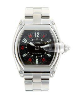 Nice Men's Watch!  Cartier Roadster Stainless Steel Watch, 35mm