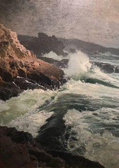 Seascape Paintings, Watercolor Paintings, Landscape Art, Landscape Paintings, Water Art, Oil Painters, Traditional Paintings, Art Sketchbook, Artist Painting