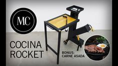 Rocket stove with folding table. Rocket Stove Design, Diy Rocket Stove, Rocket Stoves, Metal Fire Pit, Diy Fire Pit, Fire Pits, Jet Stove, Oil Barrel, Smoke Bbq