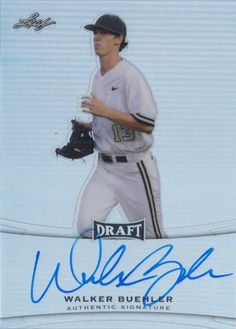 #BA-WB1 Walker Buehler   ***   Dodgers Blue Heaven: 2015 Leaf Metal Draft Baseball - All the Dodger Cards - Walker Buehler's First Card