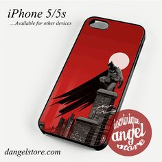 Batman in Red Phone case for iPhone 4/4s/5/5c/5s/6/6 plus