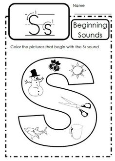 1000 images about letter ss on pinterest letter of the week letters and phonics. Black Bedroom Furniture Sets. Home Design Ideas