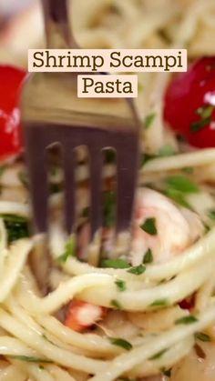 Shrimp Recipes, Fish Recipes, Cooking Recipes, Healthy Recipes, Crockpot Recipes, Seafood Dinner, How To Cook Pasta, Diy Food, I Love Food