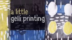 "2 Fun and easy to watch minutes of Gelli printing by Tara Axford. Watch as she uses masking fluid to create great 'masks' and fabulous prints. ""Gelli print peek."""