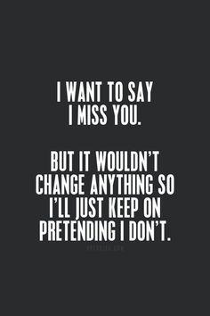 So I'll just keep on pretending until it's true.