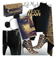 """""""sexy beast"""" by katymill ❤ liked on Polyvore featuring Steve Madden, Alyx, IO Ivana Omazić, Valentino, American Eagle Outfitters and WALL"""