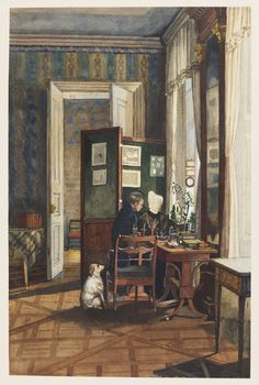 A room in the Reuss Palace, Dresden. 1837