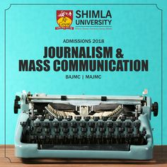 Consider to be the four pillar of society, media offers multiple avenues to the students of Journalism & Mass Communication.  To avail the benefits of ever growing media industry, pursue career in journalism & mass communication at north India's leading university, Shimla University - AGU  Explore more at http://bit.ly/2mrYGHi or call at +91-9816222000, 18004198654 (Toll Free).