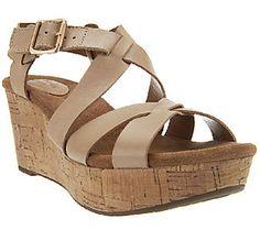 Clarks Artisan Caslynn Cheryl Leather Platform Wedge Sandals