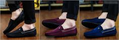 Awesome Suede Round Toe Flat Men's Loafers! Choose your color. #shoes