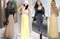 Макси юбка / с чем носят длинные юбки.