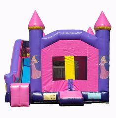 Inflatable Princess Bounce House Combo - Columbus, GA $170    http://www.jollyjumpinflatables.com