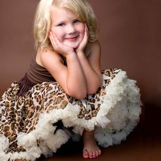 @LaylaGrayce #leopard pettiskirt. ADORABLE. Hang a tiny tine one from a nursery wall! #pinparty