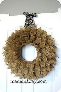 burlap bookpage style wreath, crafts, wreaths